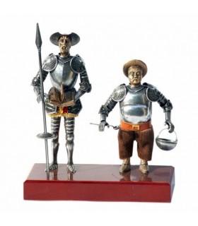 Figura Don Quijote y Sancho Panza, 24 cms.