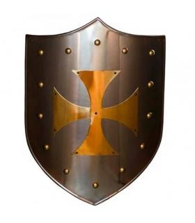 Escudo Cruz Templaria latonado