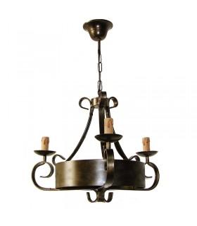 Lámpara forja de 3 brazos