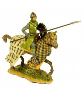 Miniatura templario a caballo