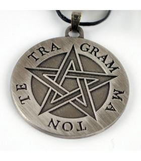 Colgante pentagrama Tetragammaton