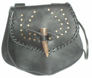 Medieval bag with rivets