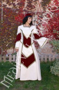 Medieval dress with brocade