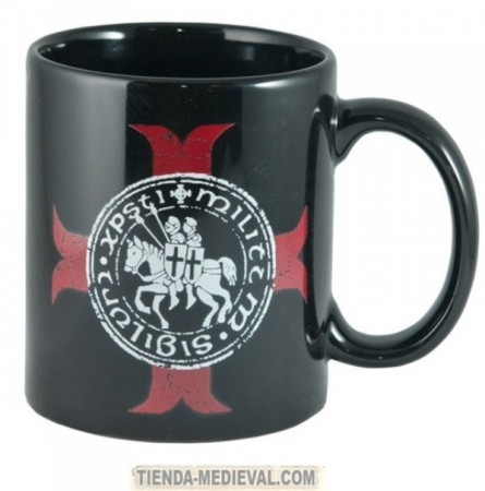 Taza sello Templario con cruz