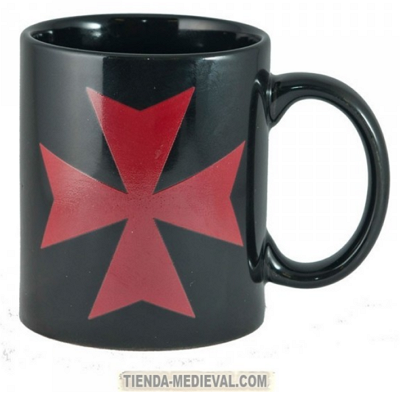 Taza cruz templaria Desayuno medieval