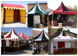 Medieval tents and pavilions