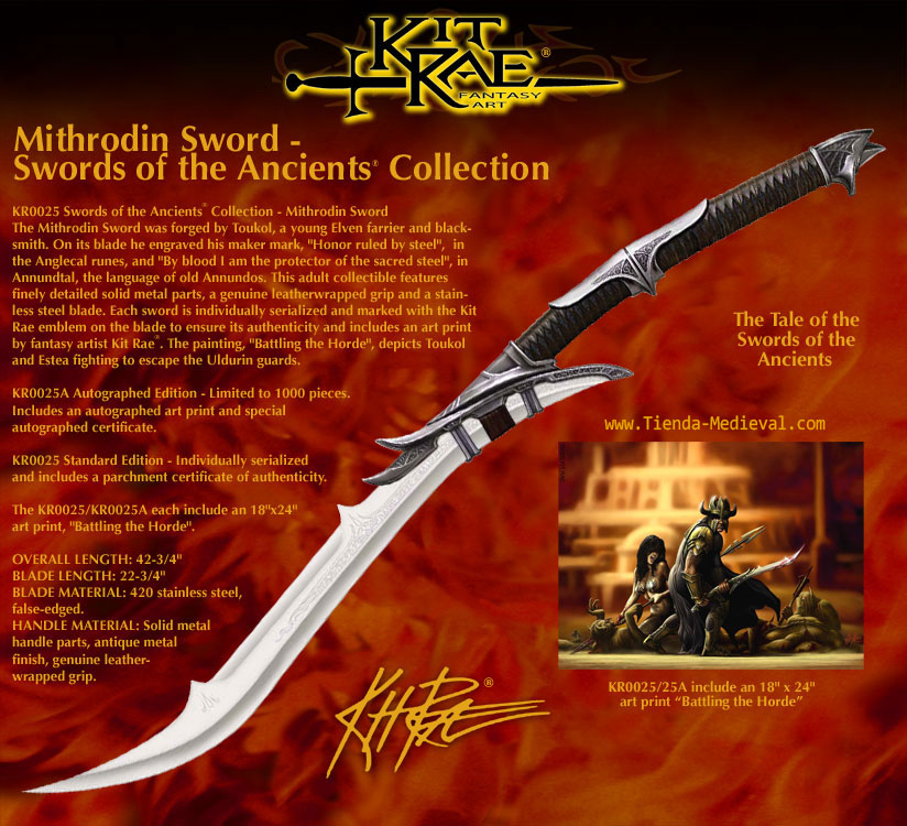 Espada Mithrodin de Kit Rae