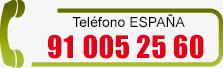 Teléfono ESPAÑA - Lunes a Viernes de 9-19h: (34) 91 005 25 60