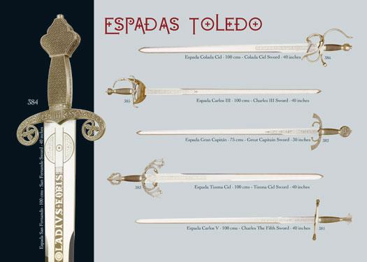Espadas fabricadas en Toledo (España)