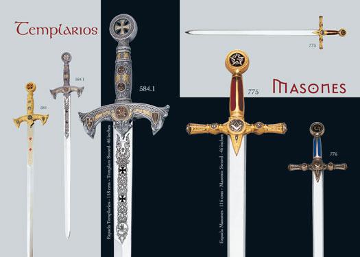 Espadas templarias y masónicas fabricadas en Toledo (España)