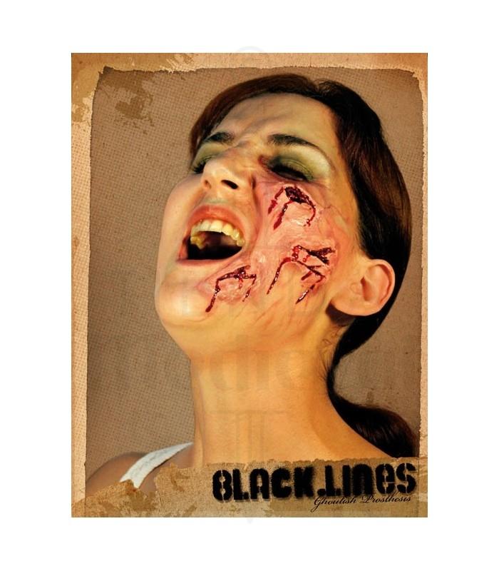 Maquillaje cara quemada y cortada