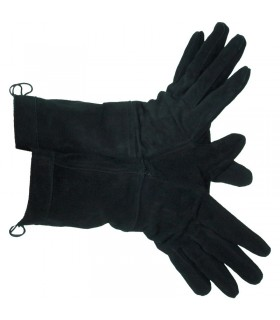 Guantes medievales negros