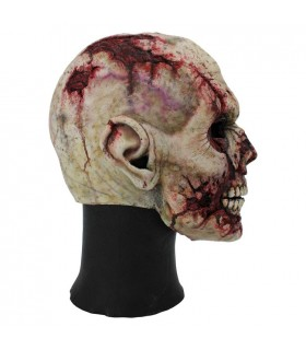 Máscara Zombie cara cortada