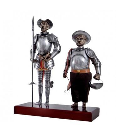 Figura Don Quijote y Sancho Panza, 42 cms.