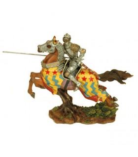Figura caballero medieval a caballo