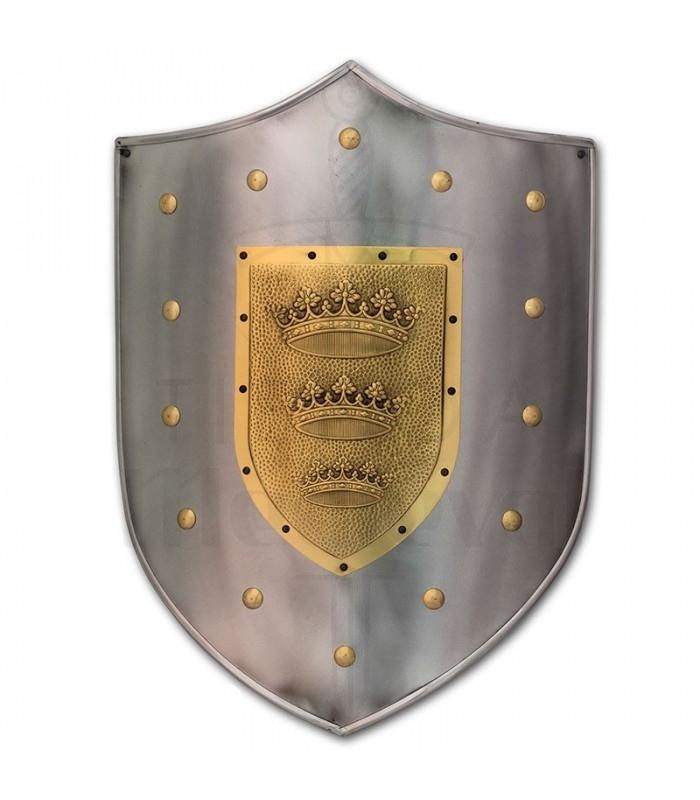 Escudo con grabado de coronas