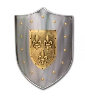 Escudo metal Flor de lis