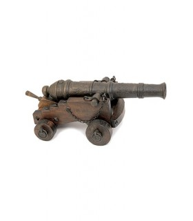 Cañón s. XVI madera y bronce (86 x 50 x 35 cms.)