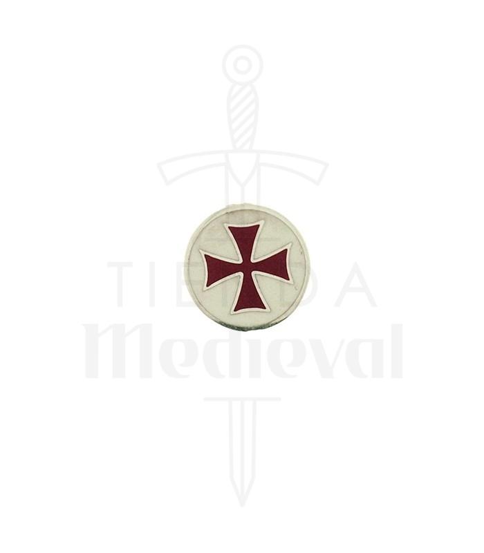 Broche Cruz Templaria en plata