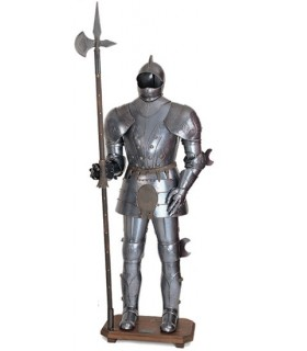 Rüstung mit Hellebarde XV Jahrhundert