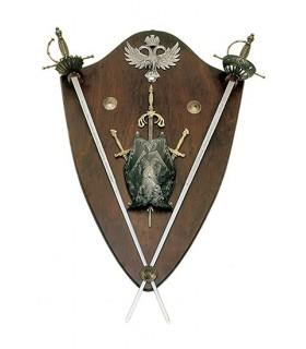 Panoplia minipeto y espadas