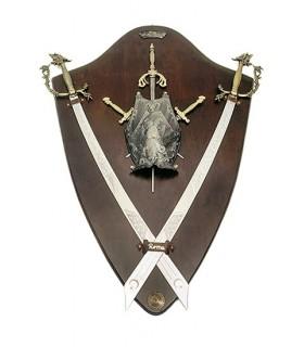 Panoplia escudo y cimitarras