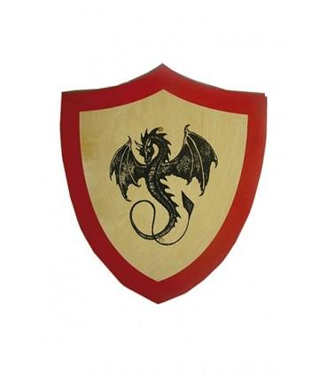 Escudo dragón negro para niños