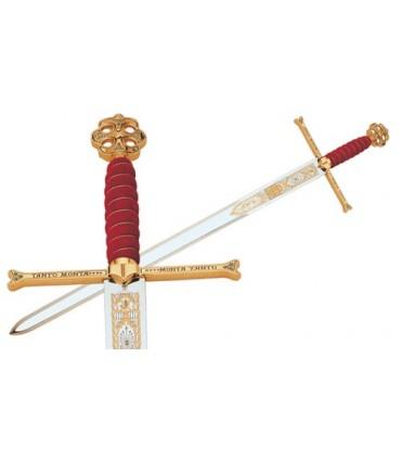 Mandoble de los Reyes Católicos en Oro