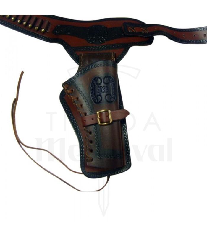 Canana piel para 1 revólver (para diestros)