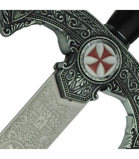 Espada Templaria rústica, decorada