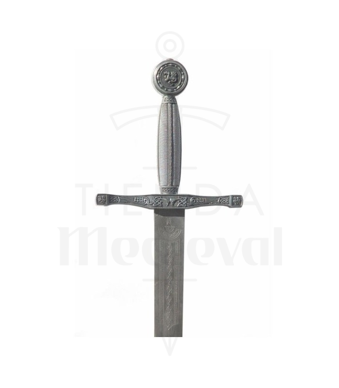 Espada Excalibur, plateada
