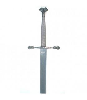 Schwert Carlos V, rustikale Blatt aufgezeichnet
