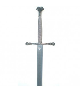 Espada Carlos V, hoja rústica grabada