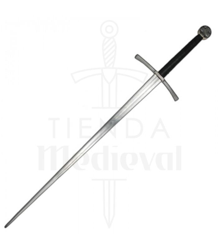 Espada templaria mano y media, 125 cms.