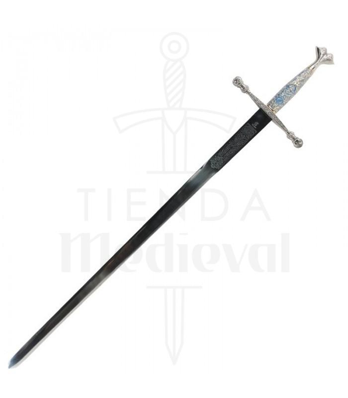 Espada Carlos V con puño cincelado