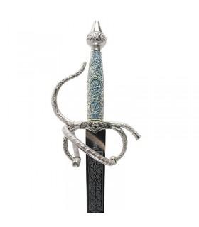 Espada Colada Cid con puño cincelado