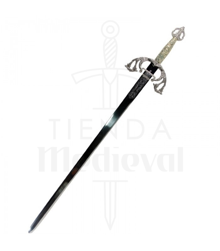 Espada Tizona Cid con puño cincelado