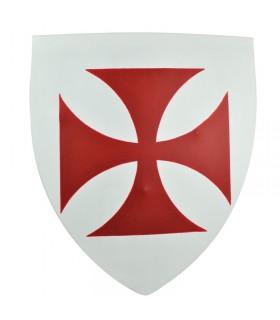 Escudo templario funcional, 50x60 cms.