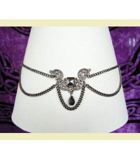 Tiara con perlas de cristal