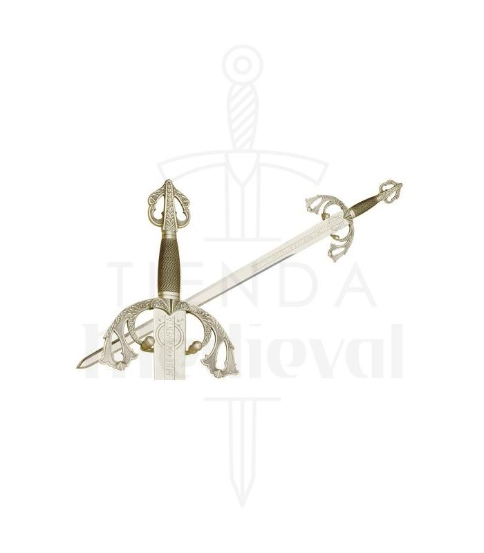 Espada Tizona del Cid en Plata