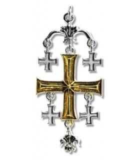 Colgante Templario Cruz de Jerusalen