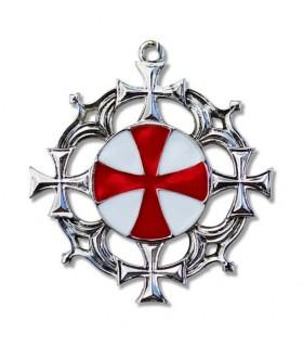 Colgante Templario Cruz solar