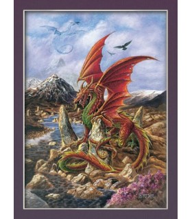 Poster dragón de fuego (30 x 40,5 cm)