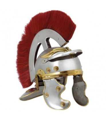 Casco Centurión Romano con penacho frontal