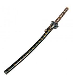 Katana dragón vaina negro-oro