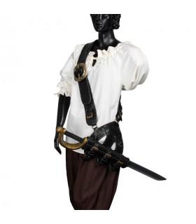 Bandolera pirata cuero