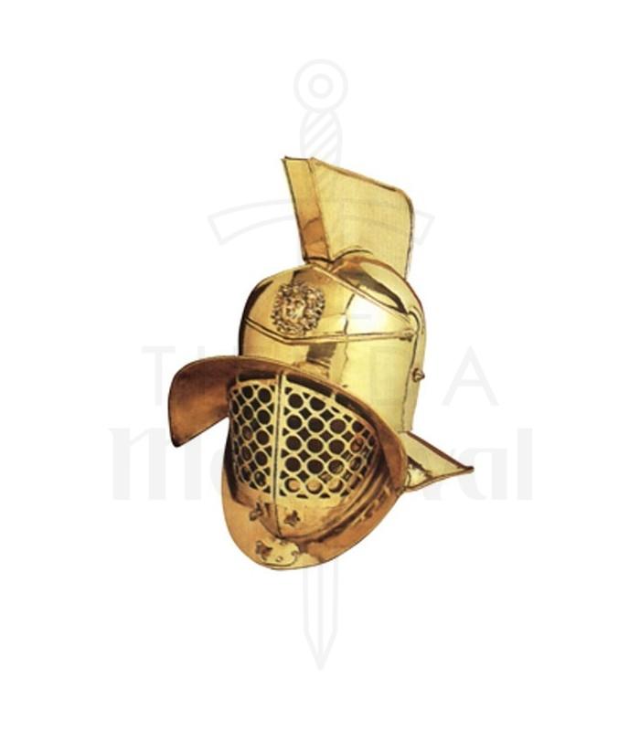 Casco de gladiador romano