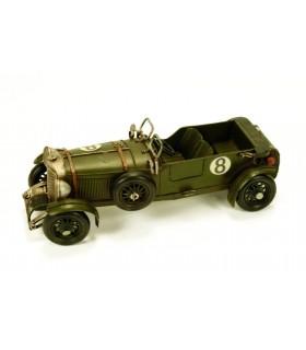 Miniatura coche carreras antiguo