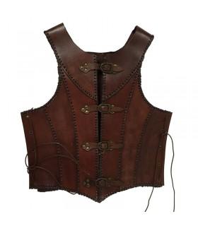 Armadura medieval cuero marrón