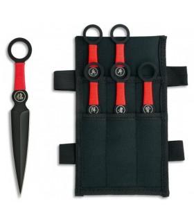 Set 6 cuchillos lanzadores ninja